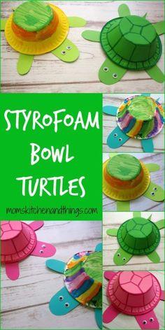 Styrofoam Bowl Turtles - Crafty Morning