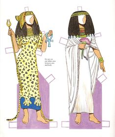 Ancient Egyptian Costumes Paper Dolls: History of Costume Series, Tom Tierney Ancient Egyptian Clothing, Ancient Egyptian Costume, Egyptian Fashion, Egyptian Art, Egyptian Jewelry, Egypt Crafts, Paper Dolls Printable, Ladies Gents, Illustration Mode