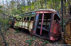 abandoned trolley graveyard 3 Urban Exploration of a Forgotten Trolley Graveyard