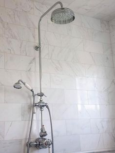 Provide Multiple Showerheads  Outfit your shower with multiple showerheads to increase both effectiveness and luxury. Installing showerheads at various levels throughout the shower makes it easy for people of all sizes to scrub down. Include a handheld showerhead for people who might need to sit while bathing.