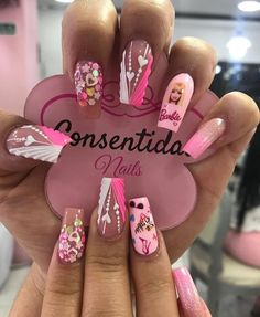 Coffen Nails, Baby Pink Aesthetic, Super Cute Nails, Barbie, Pink Acrylic Nails, Short Nails, Lily, Nail Art, Beauty