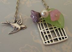 Freedom   Sweet Antiqued Silver Sparrow by BeadCoutureBySteph