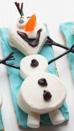 Marshmallow Olaf Snack
