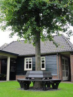 Patio Bench, Go Outside, Garden Inspiration, Garden Plants, New Homes, Deck, Amsterdam, Camping, Outdoor