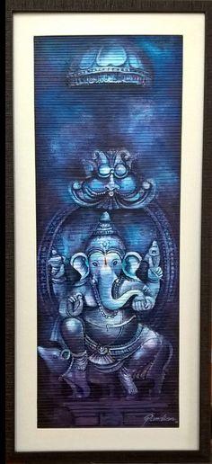 Blue Ganesha - E India Art Festival Ganesha Drawing, Lord Ganesha Paintings, Ganesha Art, Modern Pop Art, Indian Paintings, Art Paintings, Madhubani Art, India Art, Creative Artwork