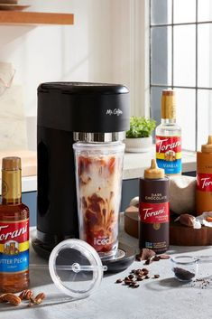Looking to add some new coffee favorites to you at home coffee bar? Torani has a wide variety of Torani syrups and sauces! Coffee Drink Recipes, Coffee Drinks, Torani Syrup, Cold Brew, Brewing, Cold Brewed Coffee