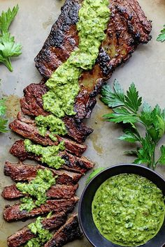 Skirt Steak Recipes, Steak Marinade Recipes, Grilled Steak Recipes, Chimichurri Steak Recipe, Flank Steak With Chimichurri, Tri Tip Marinade, Chuck Steak Recipes, Steak Fajita Marinade, Steak Marinade For Grilling