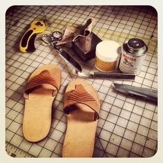 Tutorial für leder sandalen