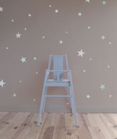 Vinilo Estrellas Mint Aguamarina Estampadas - Vinilos, stickers y papel pintado - Decoración | Minimoi | Minimoi Baby Bedroom, Baby Room Decor, Nursery Room, Girl Room, Girls Bedroom, Bedroom Decor, Toddler Rooms, Kids Decor, Home Decor