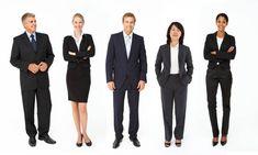 When Job-Hunting: Dress for Success Smart Business Attire, Business Dresses, Business Men, Business Meeting, Business Casual, Dress For Success, Dress Code For Women, Office Dress Code, Corporate Uniforms