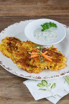 Veganpassion: Schnelle Karotten-Puffer mit Kichererbsenmehl
