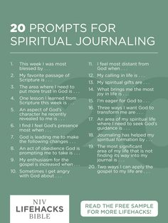 20 prompts for spiritual journaling journal prompts, christian journaling prompts, scripture journal, devotional Spiritual Life, Spiritual Growth, Spiritual Health, Spiritual Prayers, Spiritual Images, Journal Writing Prompts, Christian Journaling Prompts, Journal Ideas, Scripture Study