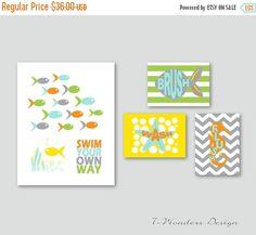 On Sale Kids Bathroom Art Prints For Girls By 7wondersdesign