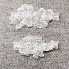 Bridal Embroidery Lace Garter Set