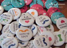 Badges personnalisés mariage