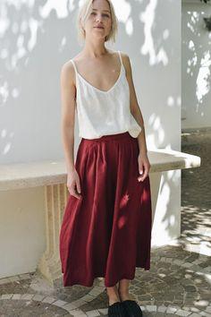 Linen top/ Linen blouse/ Linen basic top/ Top/ Linen shirt/