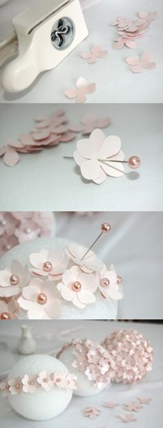 How to Make a Pomander Flower Ball Tutorial: How to Make a Pomander Flower Ball Flores Bonitas de Papel Dibujo ?Tutorial: How to Make a Pomander Flower Ball Flores Bonitas de Papel Dibujo ? Cute Crafts, Diy And Crafts, Decor Crafts, Crafts With Fabric, Arts And Crafts For Teens, Cute Diys, Diy Party Dekoration, Craft Projects, Projects To Try
