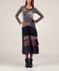 Loving this Anthracite & Khaki Nina Dress & Tee on #zulily! #zulilyfinds