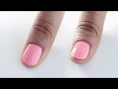 HOW TO | CAP SHORT NAILS WITH GEL - YouTube