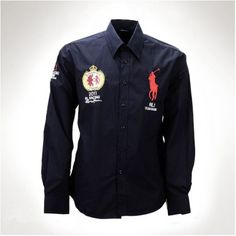Ralph Lauren Men Darkblue Big Pony Long Sleeved Shirts [rl 575] - £29.62 : Ralph Lauren Polo Outlet UK http://www.ralph-laurenoutlet.com/