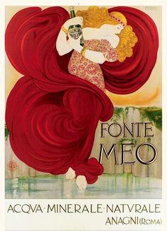 """""""Fonte Meo""""  Francesco Nonni - 1924  Art nouveau poster"""