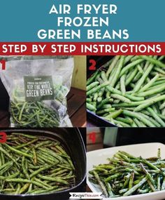 How to make the BEST EVER crispy green beans fries in the air fryer from frozen. Load them up with your favourite seasonings and you have a healthy alternative to air fryer fries. Delicious Green Beans, Crispy Green Beans, Fried Green Beans, Best Vegetable Recipes, Vegetarian Recipes Easy, Healthy Recipes, Keto Recipes, Dinner Recipes, Cooking Frozen Green Beans