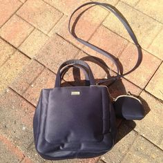 ESPRIT Blue Crossbody Like new condition. Cute change purse comes with it. Cross Body/satchel style. Pre owned but barely used. ESPRIT Bags Crossbody Bags