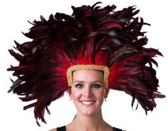 Zucker Feather Mask/Headdress with Coque Feathers, Red Zucker Feather,http://www.amazon.com/dp/B004PZT2DM/ref=cm_sw_r_pi_dp_bfe4sb1ABAPQF902