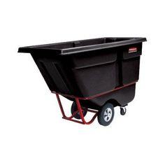 Rubbermaid Commercial Products Standard Duty Tilt Truck, 1 Cubic Yard, Black