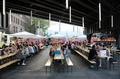 A temporary destination under the High Line at 30th Street, the Lot on Tap is an admirably minimalist outdoor bar.