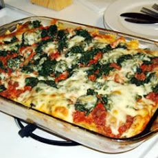 Rita's Spinach Casserole - Amelia ate it, but next time I'll add spinach and sub out the sour cream for ricotta or cottage cheese.