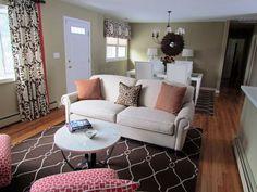 transitional interior design | Columbia Transitional Living/Dining Room - Interior Design Photos in ...