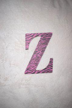 Zebra Nursery Letter! FREE SHIPPING! Www.AaliyahsLetters.com   https://www.etsy.com/listing/386742780/girl-nursery-letters-9-pink-zebra-themed