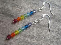 Chakra Love Swarovski Crystal Earrings by Abundantearthworks, $12.00