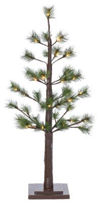 Sterling 3' Pre-Lit LED Pine Needle Artificial Christmas Tree with White Lights