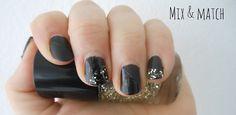 Mix & match. #nails #glitter #mattenailpolish