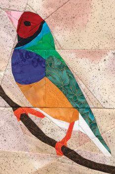 Beautiful Foundation Paper Pieced Quilt Pattern With Instructions! Paper Pieced Quilt Patterns, Quilt Block Patterns, Motifs Applique Laine, Bird Quilt Blocks, Stained Glass Quilt, Paper Quilt, Animal Quilts, Foundation Paper Piecing, Barn Quilts