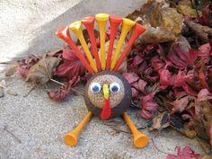 Craft Klatch: Golf Ball Turkey Craft for Thanksgiving