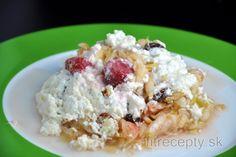 Fitness raňajky s vysokým obsahom bielkovín Healthy Baking, Healthy Recipes, Dried Raisins, Quark Cheese, Baked Rice, Shredded Coconut, Mets, Calories, Four