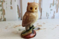Vintage Retro Owl Candle by RoyalRabbitDesigns on Etsy, $6.00