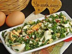 Haftasonu Kahvaltısı İçin Pratik Kahvaltılık Tarifler Resmi Egg Salad, Cobb Salad, Potato Salad, Pinterest Salads, Egg Recipes, Salad Recipes, Homemade Beauty Products, Health Fitness, Eggs