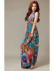 Feminino Terras Estrangeiras vestido colorido... – BRL R$ 38,33