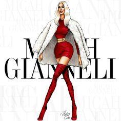 Micah Gianneli #fashion #illustration by Keidi Cole.