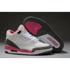 newest 65cbf 02097 Women Air Jordan 3 Retro White Pink Cement Grey