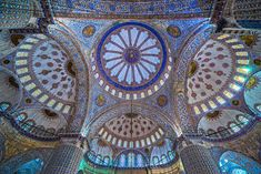 Unusual Buildings, Blue Mosque, Over The Garden Wall, Stained Glass, Mosaic, Scenery, To Go, Architecture, Blue Things