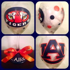 Auburn Tigers Glassware Hand Painted ~ War Eagle Glasses ~ Sports Barware ~ Auburn University Gifts ~ Personalized Christmas Gifts by WattsGoodArtistry on Etsy. Follow WattsGood Artistry on Facebook: https://www.facebook.com/wattsgoodartistrydesigns