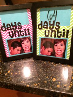 Homemade countdown for long distance relationship. Just scrapbook paper…