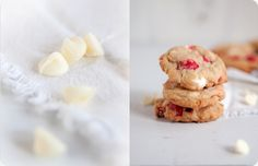 White Chocolate Peppermint M&M Cookies from Some Kitchen Stories // food meets fiction