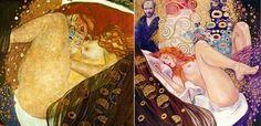 """Storia dell'arte (erotica) by Milo Manara - Gustav Klimt e la modella per """"Danae"""""""