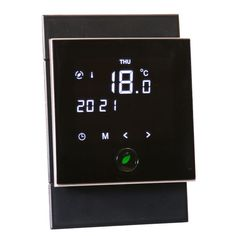 Energy saving motion sensor thermostat for Underfloor Heating Underfloor Heating, Key Design, Laminate Flooring, Digital Alarm Clock, Save Energy, Technology, Carpets, Granite, Floors